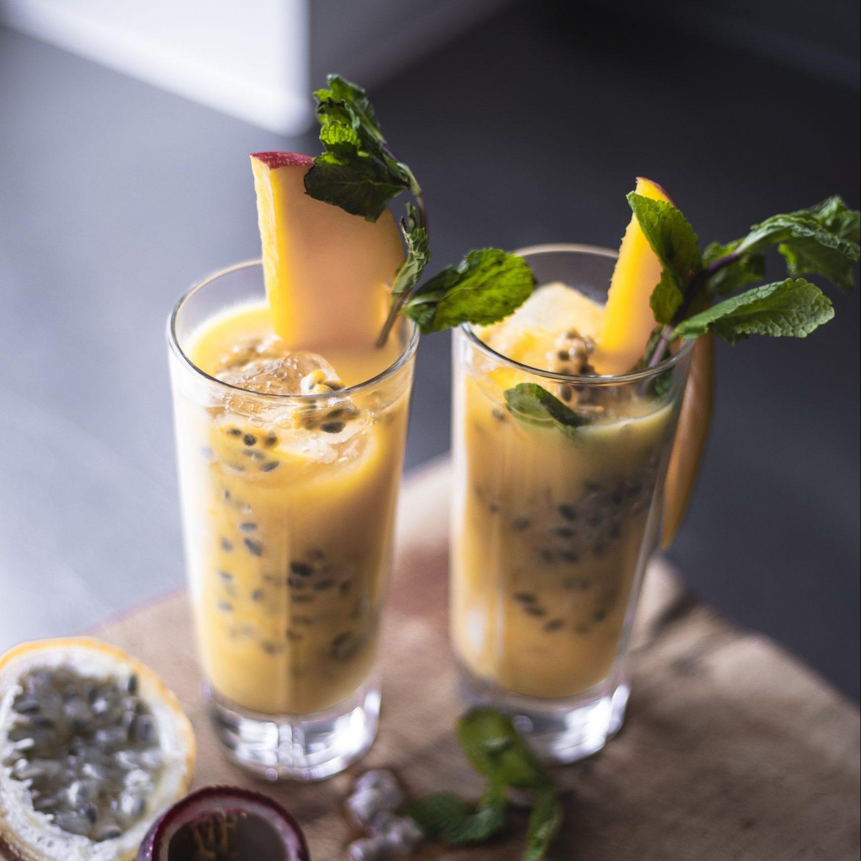 Gul, frisk smoothie